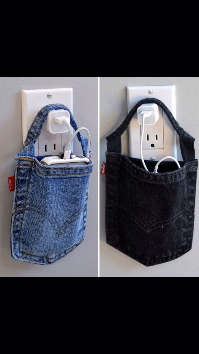 Turn An Old Pair Of Jeans Into A Cute Holder For Your Phone