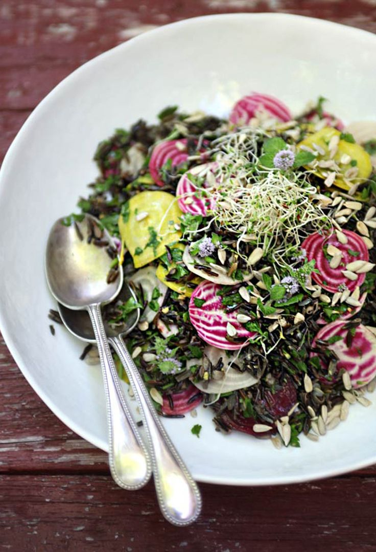 Sprouted Wild Rice and Beet Salad