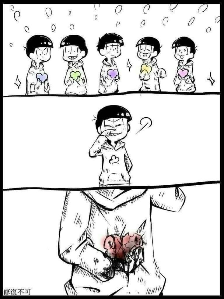 Aw :( poor Osomatsu