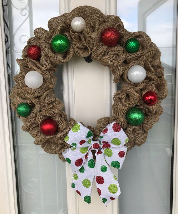 Christmas Wreath Holiday Door Outdoor Bow Ornament X Mas Wr