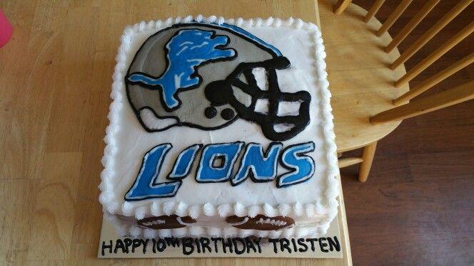 Detroit Lions cake 11/7/15