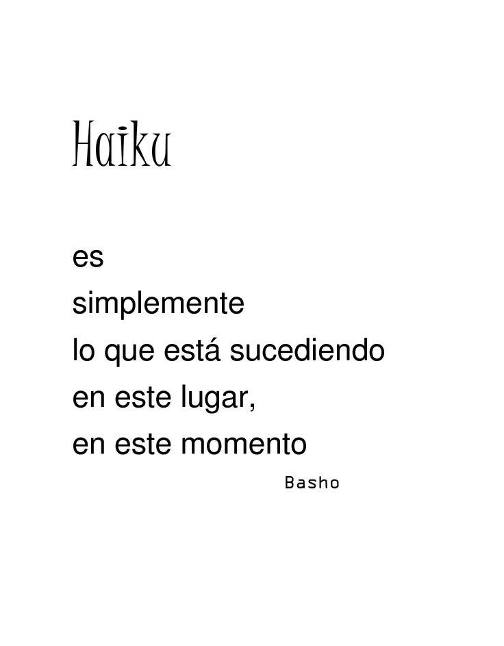 Haiku. Basho