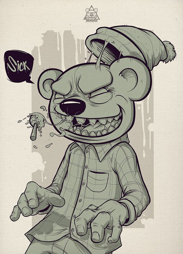 Ilustration Bear Squad - Sick on Behance