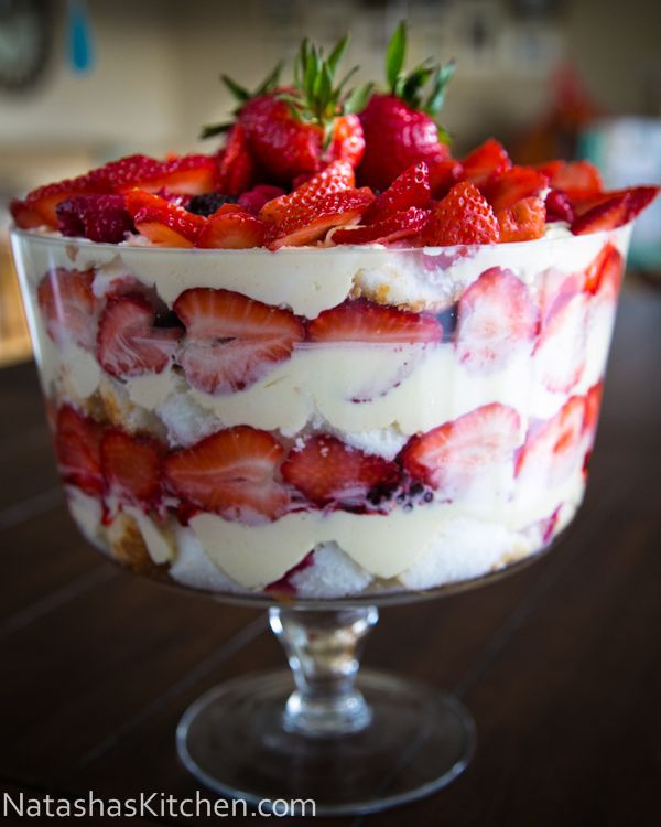 Mixed Berry and Angel Food Trifle Recipe