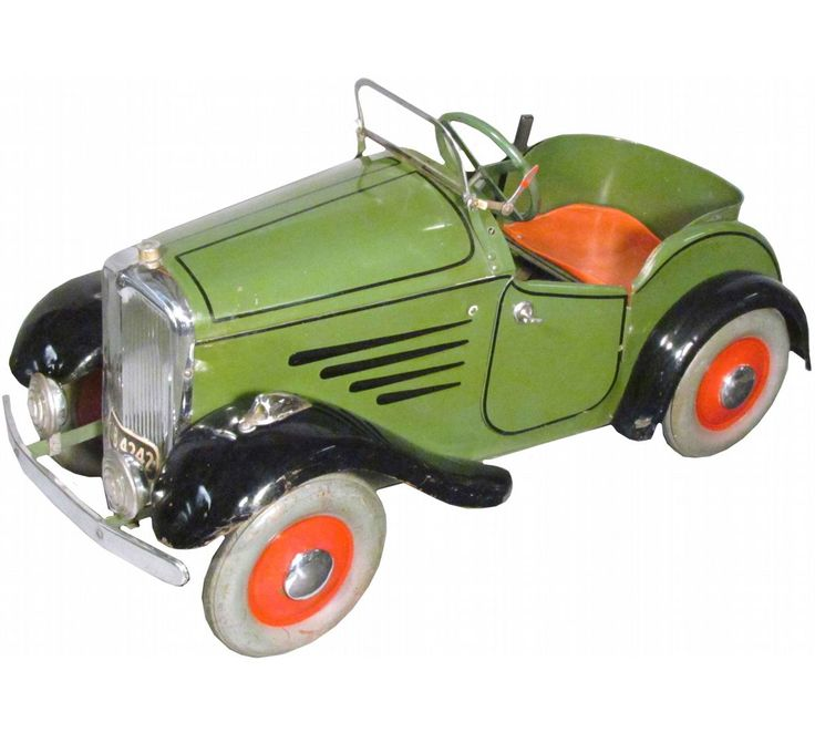 1930s tri ang kids pedal car green made in england excellent original