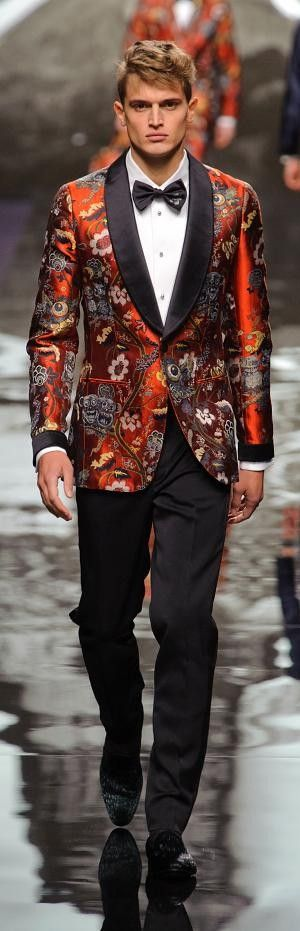 Finding decent guy outfits on this website is the hardest thing I've done in my life. But I like the floral on the jacket, I'm not sure what occasion this is to be worn to but I like it