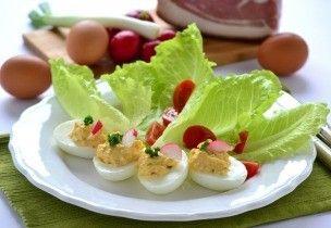 Sonkakrémmel töltött tojások