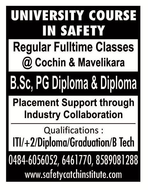 Join the #University course in #Safety at #Cochin and #Mavelikara that is designed to prepare you for #employment in the expanding area of health, safety and environment: http://safetycatchinstitute.com