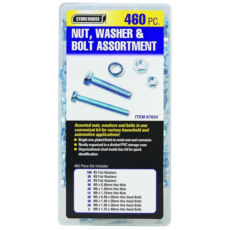 460 Piece Nut and Washer Assortment