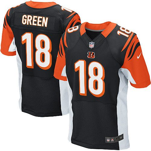 Nike Cincinnati Bengals A. Green Black C Patch Elite Jersey
