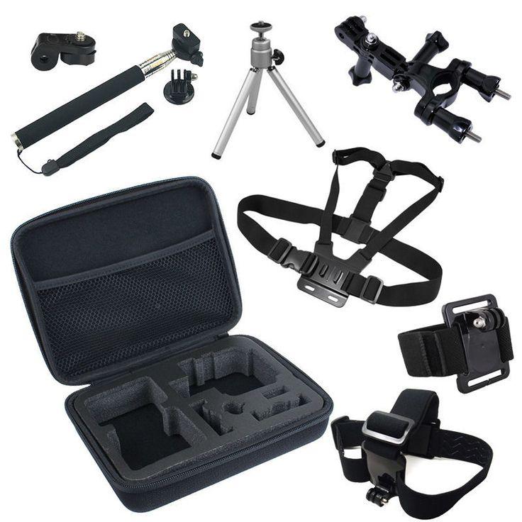Go pro accesorios gopro hero 5 4 sesiones 2 3 3 + sjcam cámara de acción sj4000 para xiaomi yi eken h8 h9 h9r colección bolsa de caso