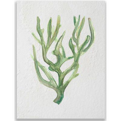 "Jetty Home 10"" H x 8"" W Seaweed Watercolor Ocean Painting Print"
