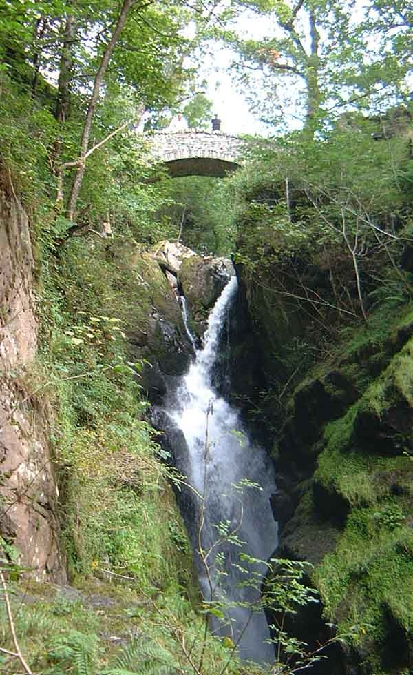Aira Force - waterfall in the Lake District, Cumbria