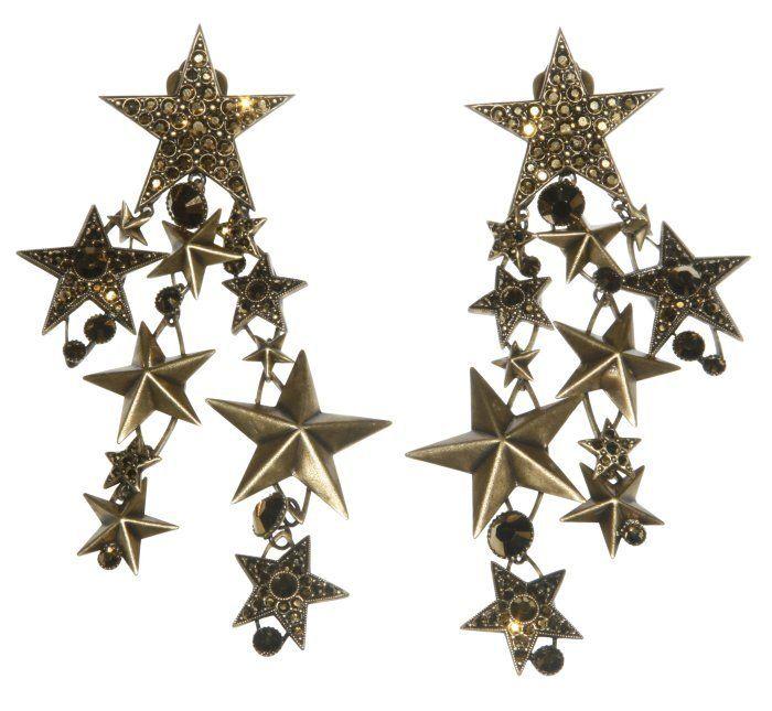 Ohrring Clip baumelnd Dancing Star braun