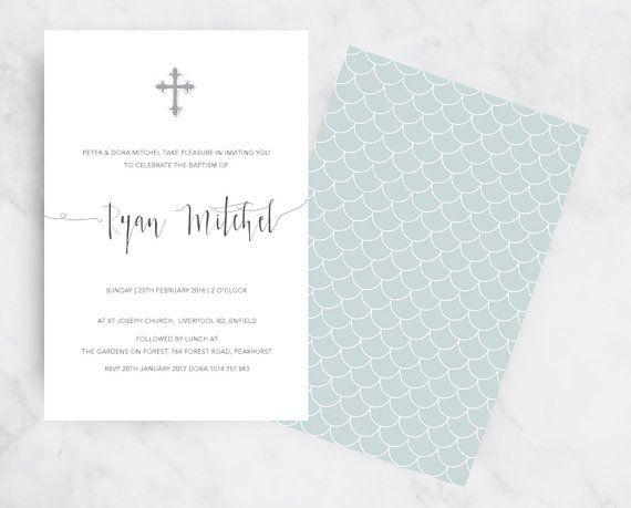 Wisdom Christening Invitation Old World Christening Invitation #Christening #Invitation #invitations #invite #vintage #elegant #boy #baptism