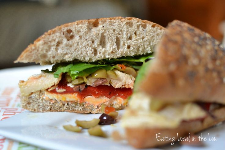 Chicken Ciabatta Sandwich with Goat Cheese, Roasted Red Pepper and ...