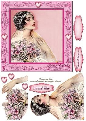 Beautiful Brides Series 5 Card Front  on Craftsuprint - Add To Basket!