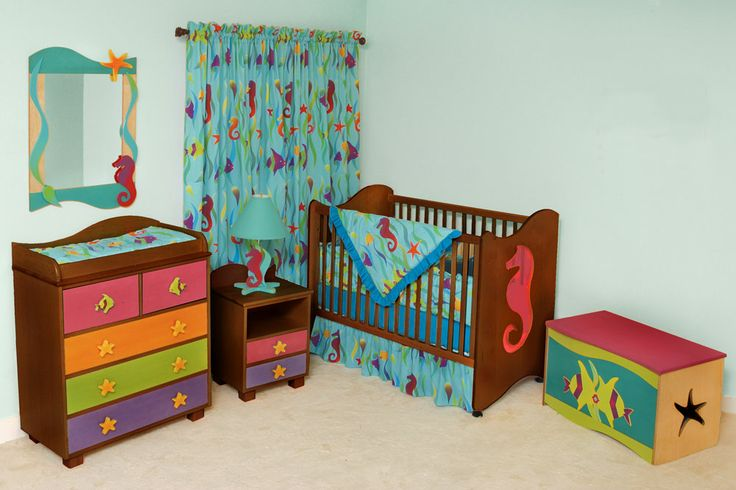 Tropical Seas Nursery Furniture Sets, Chocolate Children's Furniture Store, Kids Bedding, Furniture For Boys and Girls
