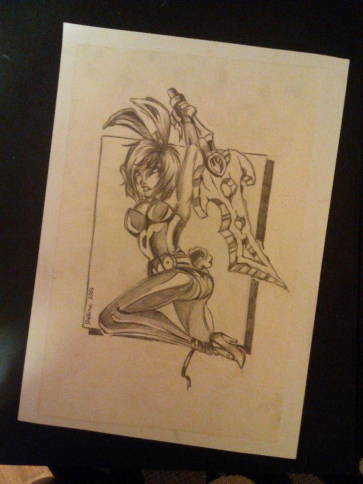 Riven #riven #lol #leagueoflegends #pencils #illustration #characterdesign #sketching #anime #animegirl