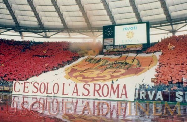curva sud roma coreografie