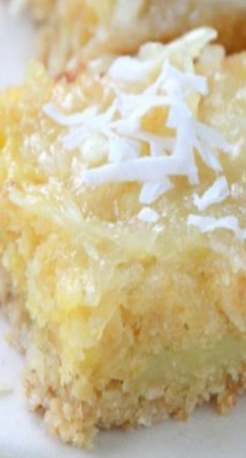 GFCF  Coconut Lemon bars