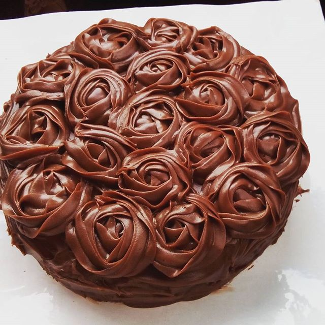 Torta de chocolate con ganache
