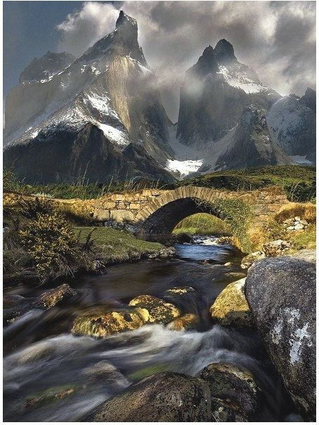{Torres del Paine, Chile}  The mountains...