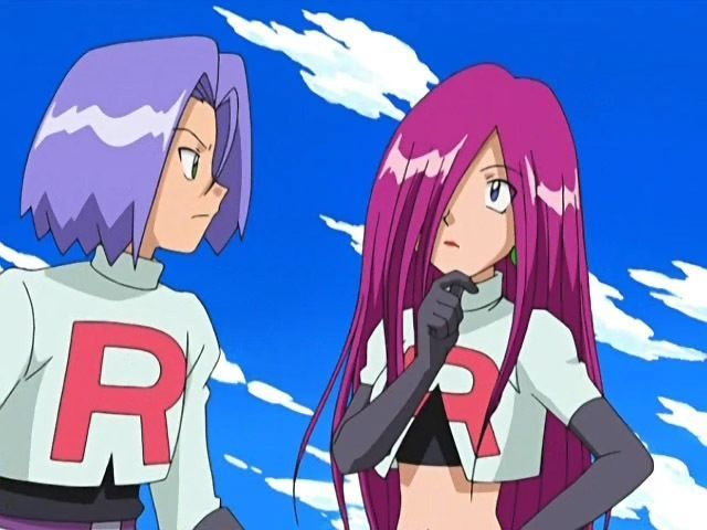 James And Jessie With Straight Hair She Is Looking Good Pokemon Team Rocket James Pokemon Team Rocket