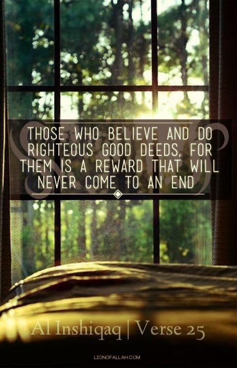 Reward Without End (Quran 84:25)