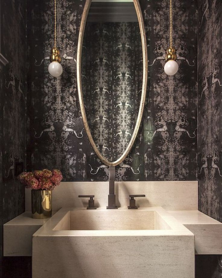 Design Inspirations: Help Yourself to a Cluster of Bold Powder Rooms