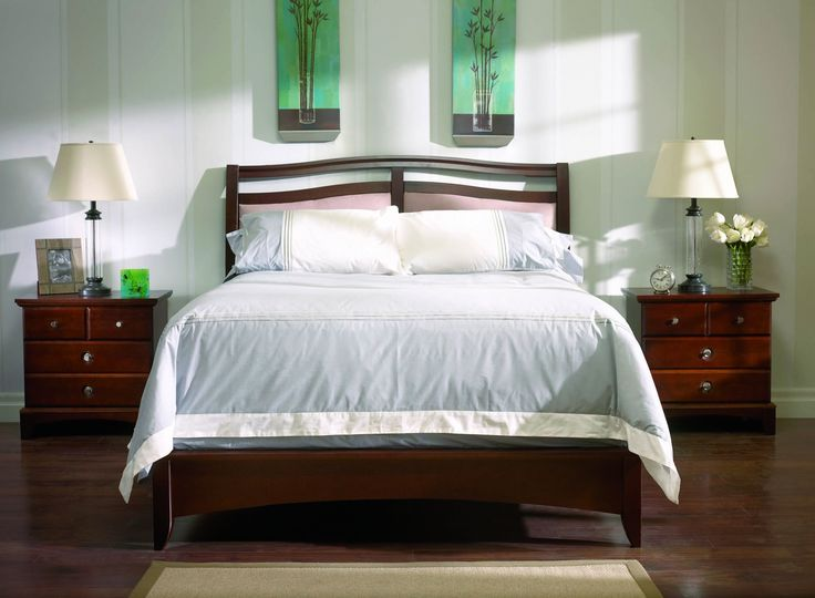 "Queen 60"" Upholstered Hazel Wood Bed From Defehr Furniture ! *Bed Only* Available at Reliable Home Furniture."