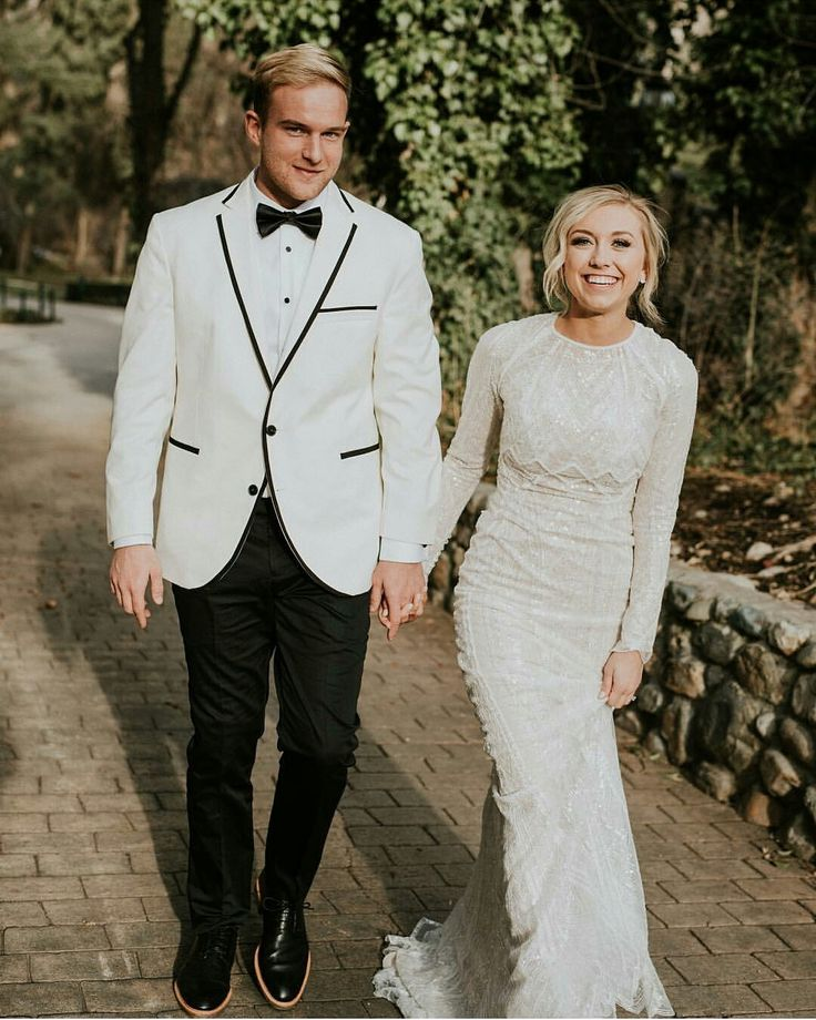 modest wedding dress with long sleeves from alta moda. --(modest bridal gown)--