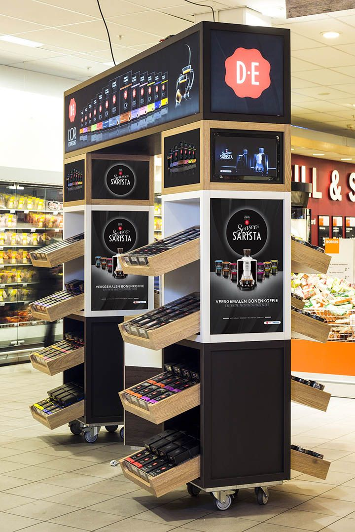 Retail Design Ideas city market the supermarket design idea supermarket design grocery store design interior We Love Designing Kiosks Contact Us About Your Idea Douwe Egberts Stand By Studiomfd Amsterdam