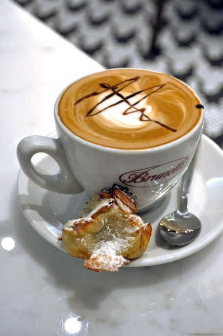 Brunetti's Italian coffee. Used to have something like this for breakfast every morning in Firenze...I miss it!