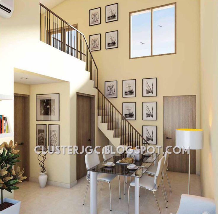 Design Interior Rumah Cluster Yarra Tipe Mezzanine #jakartagardencity #clusteryarra #tipemezzanine