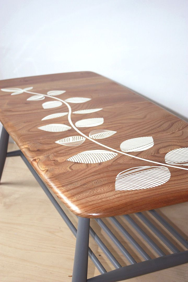 Ercol Coffee Table Beautifully Reworked By Trash Furniture