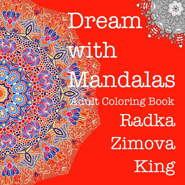 Coloring book Dream with Mandalas buy now link
