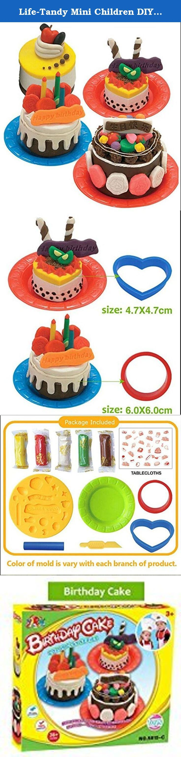Life-Tandy Mini Children DIY Birthday Cake Maker Play Dough Mold For Pretend Play. 1.Size:17*4*15 cm 2.Mud Composition:Mud is made of flour. 3.purified water and edible pigment. 4.It's non-toxic, no stimulation to the skin. 5. There will be a certain flavor. 6.Mudhieves food grade standards, even if the baby put it into his mouth, it's no problem!.