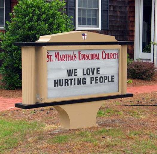 Misread church sign.