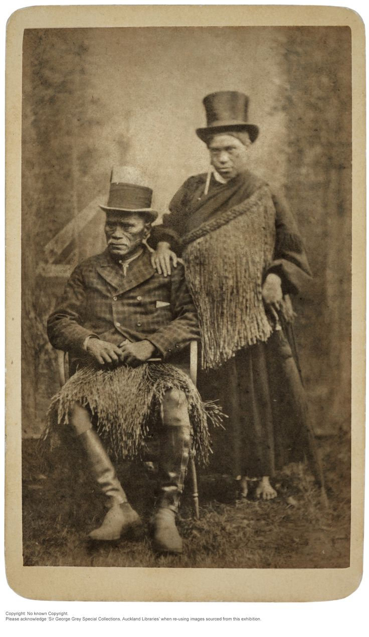 Tawhiao Potatau Te Wherowhero and his wife Hera Manatunga exhibition from the bastard Sir George Grey Special Collections