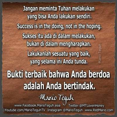 Berdoa dan bertindak
