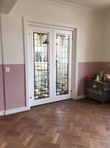Prachtige kamer en suite deuren met glas in lood | Mammoetoudebouwmaterialen.nl