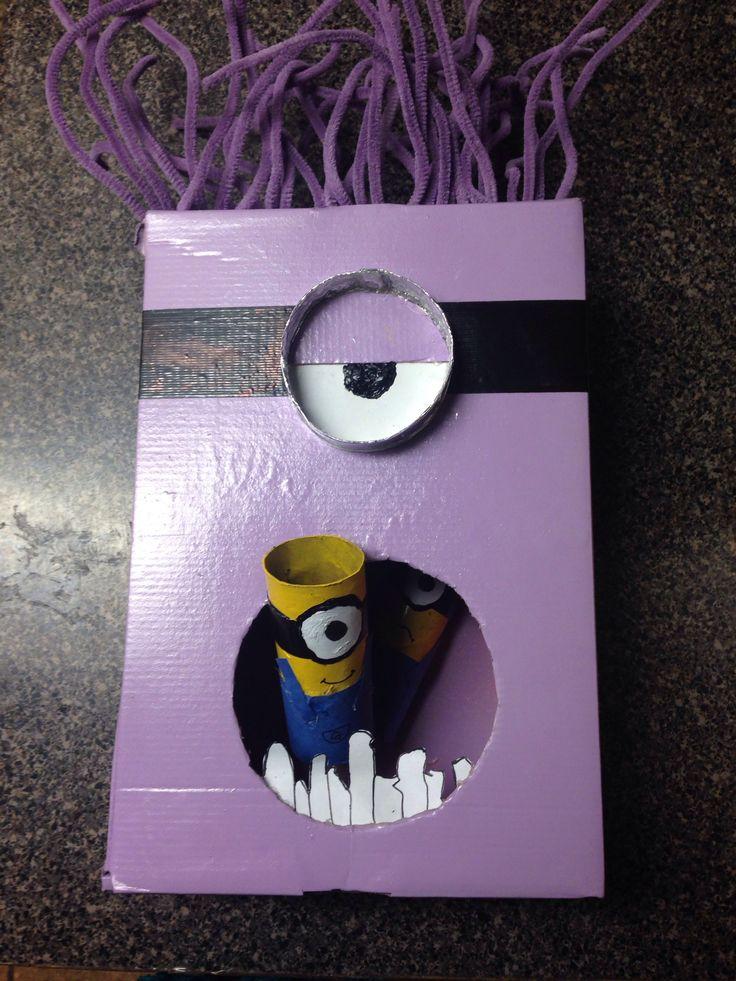Purple Minions Valentines Box