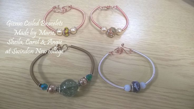 Gizmo Coiled Bracelets made at Swindon New College course run by www.verchieljewellery.co.uk