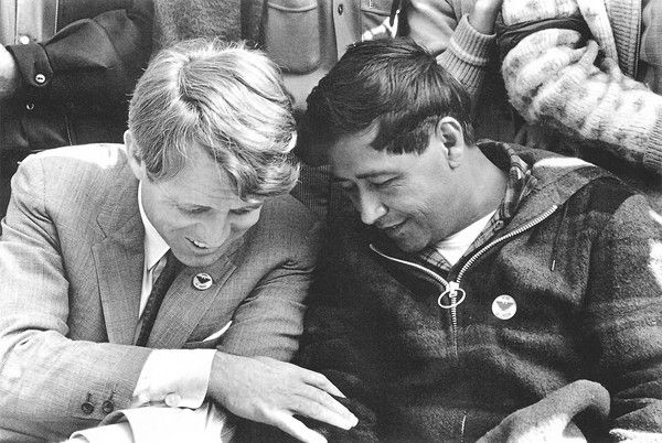 Bobby Kennedy and Cesar Chavez