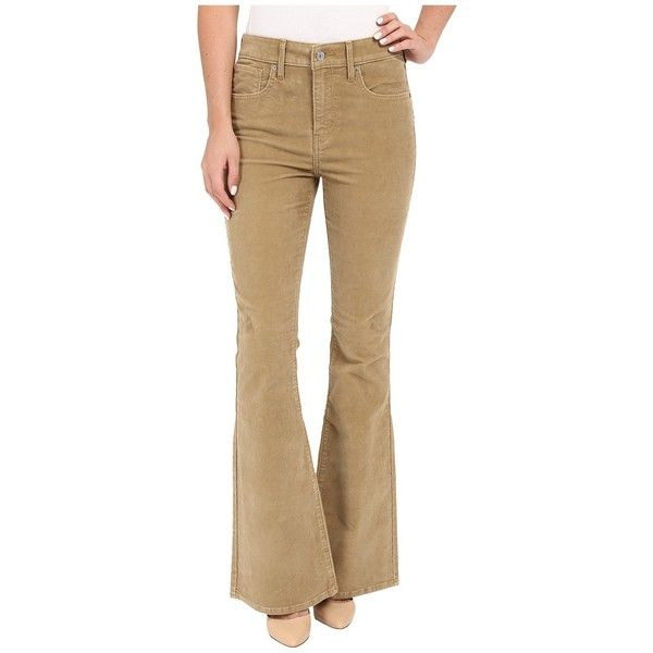 Levi's   Womens High Rise Flare (Plush Wild Wheat) Women's Jeans (£32) ❤ liked on Polyvore featuring jeans, slim jeans, high-waisted jeans, high waisted jeans, vintage high waisted jeans and levi jeans