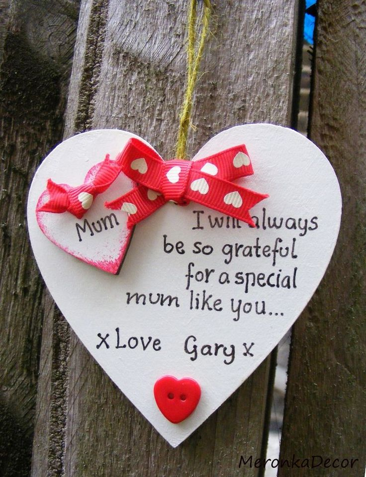 No1 Special Mum Nanny Mothers Day Birthday Gift Sign Present 10cm Handmade Heart