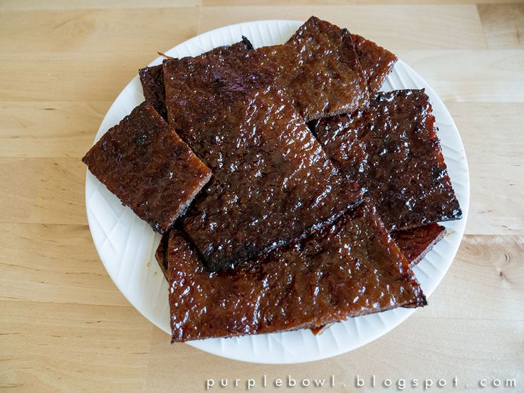 Purple bowl: Bak Kwa recipe