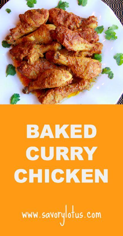Baked Curry Chicken - savorylotus.com #glutenfree #paleo #whole30