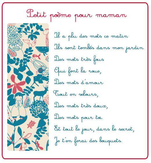 Poeme et poésie fête des mères - Petit poème pour maman - Momes.net